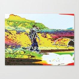 Snow Boarding Canvas Print
