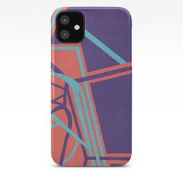 Tangents - Coral, Blue and Violet Hard Edge Abstract iPhone Case