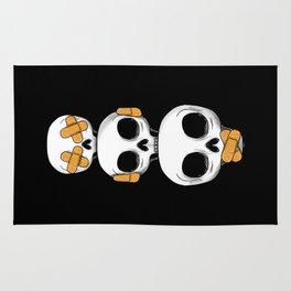 Cute Skulls No Evil II Rug