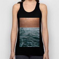 Ocean + Copper #society6 #buyart #decor Unisex Tank Top