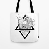 twins Tote Bags featuring TWINS by lolklos
