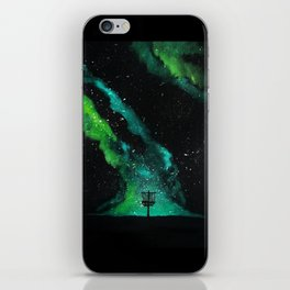 Green Galaxy Discing iPhone Skin