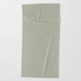Lines (Linen Sage) Beach Towel