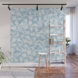 Blue Xray leaves Wall Mural