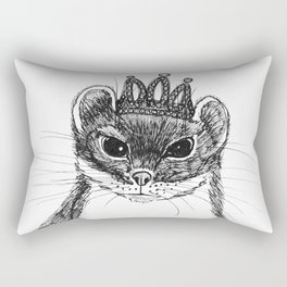 flapper weasel wearing a glittering tiara Rectangular Pillow