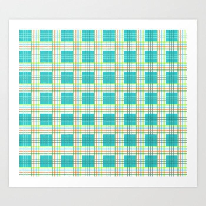 AFE Modern Plaid Pattern Art Print