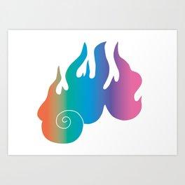 Rainbow Flame of God's Wrath Art Print