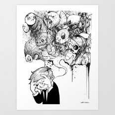 A Heavy Heart Art Print