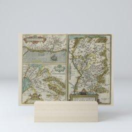 Vintage Map - Ortelius: Theatrum Orbis Terrarum (1606) - Narbonne, Savoy, Venaissin Mini Art Print