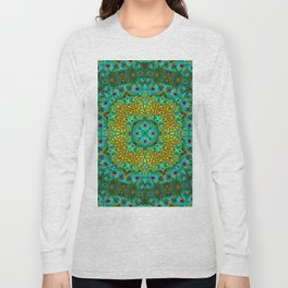Peacock Feathers - Green Long Sleeve T-shirt