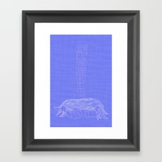 To Carry the Ocean Framed Art Print