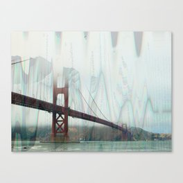 golden gate squiggles Canvas Print
