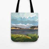 cape cod Tote Bags featuring Wells Fleet Cape Cod by Gord Coulthart