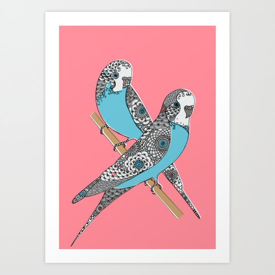 Budgies Art Print