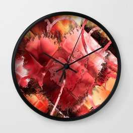 Game of Hearts by Mark Compton Wall Clock