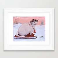 snowflake Framed Art Prints featuring Snowflake by Noel ILL