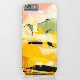 landscape abtract - paysage jaune iPhone Case