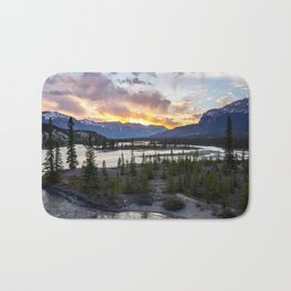 Sunrise on the River Bath Mat