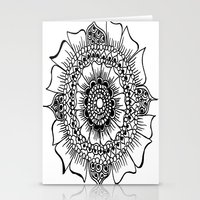 henna Stationery Cards featuring Flower henna  by Designs by NN