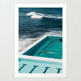 Bondi Icebergs Club I art print Art Print
