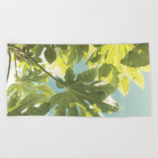 Fig Leaves Beach Towel
