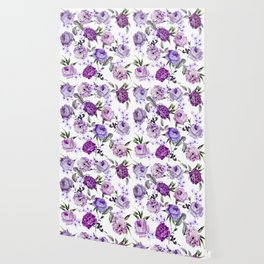 Elegant Girly Violet Lilac Purple Flowers Wallpaper
