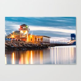 Crab Shack on the James just after sunset. Canvas Print