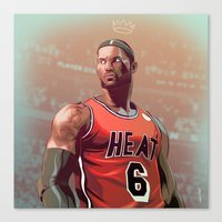 lebron Canvas Prints featuring Lebron 2014 by meisterMASH