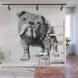 English Bulldog Wall Mural