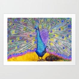 Peacock Dance Art Print