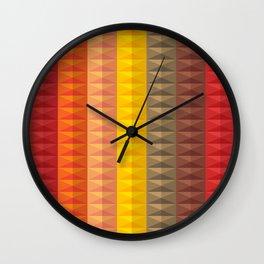 Bold Geometric Stripes Wall Clock