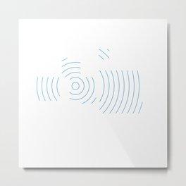 #442 Seismic squares – Geometry Daily Metal Print
