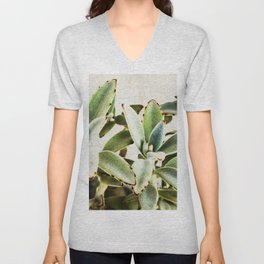 cactus leaves Unisex V-Neck