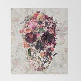 New Skull 2 Throw Blanket
