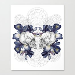 SKULLS & IRIS Canvas Print