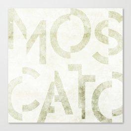 Moscato Wine Typography Canvas Print