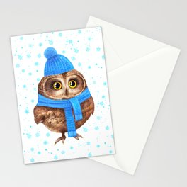 winter Owl Stationery Cards