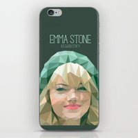 emma stone iPhone & iPod Skins featuring Emma Stone by You Xiang