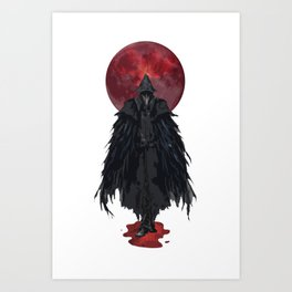 Hunter and Blood Moon Art Print