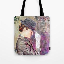 Grey Fedora Tote Bag