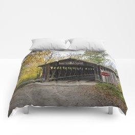 Whites Covered Bridge in Michigan Comforters