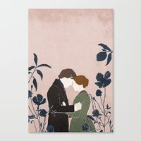 jane eyre Canvas Prints featuring Jane Eyre by bomrye