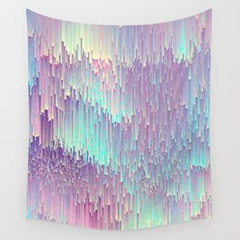 Iridescent Glitches Wall Tapestry
