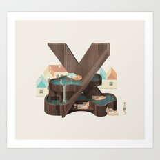 Resort type - Letter X Art Print