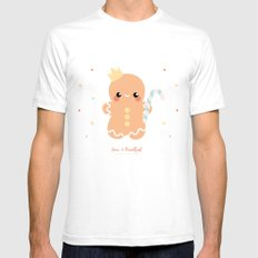 Kawaii Gingerbread Mens Fitted Tee SMALL White
