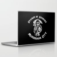 sons of anarchy Laptop & iPad Skins featuring Svamps of Anarchy by Svampriket