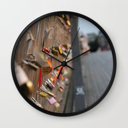 Paris Lock Bridge Wall Clock