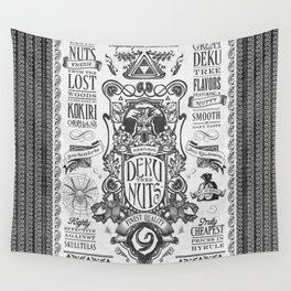 Legend of Zelda inspired Deku Nuts Vintage Advertisement Wall Tapestry