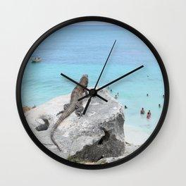 The Peeping Lizard Wall Clock