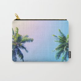 Coco Palm Trees on Pink Blue Sky Carry-All Pouch